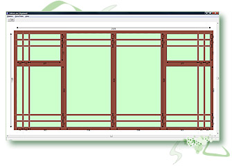 Caliburn Fusion Window industry software module for Georgian, colonial, leaded, federation, confederation & lead bar designs. With line-through.