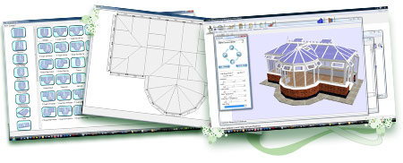 Conservatory software. Conservatories, bays, bows quoting & estimating software. Optional online quotes & estimates.